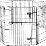 AmazonBasics Foldable Metal Pet Dog Exercise Fence Pen With Gate