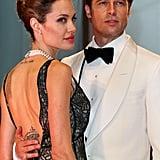 Angelina Jolie 2007 bei der Premiere von Brad Pitt The Assassination of Jesse James at auf dem Filmfestival in Venedig.