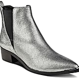 Marc Fisher Yale Metallic Leather Pointed Toe Chelsea Booties
