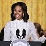 Michelle Obama was all smiles while hosting a workshop on film careers at the White House.