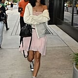 Rihanna hit the city streets of NYC for a day of shopping in June.