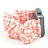 Coral Print Scrunchie Watch Band