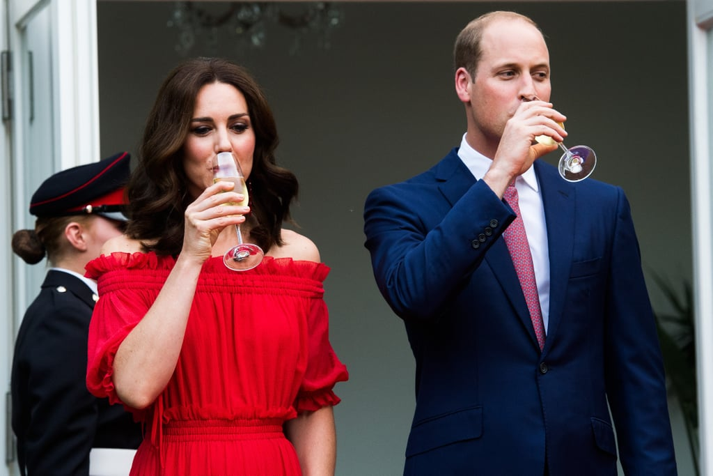 They Sipped Drinks at the Queen's Birthday Party