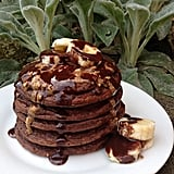 If you love the sweet taste of Nutella, treat yourself and whip up a batch of chocolate hazelnut vegan pancakes. Try a similar recipe for vegan hazelnut chocolate pancakes here. Source: Instagram user purepicks