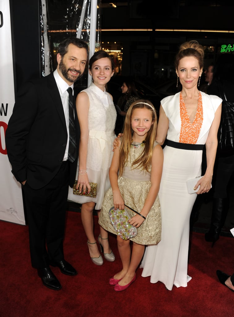 Judd Apatow, Leslie Mann and their two daughters Maude and Iris were the cutest family on the red carpet, at the premiere of their new film This Is 40 on December 12.