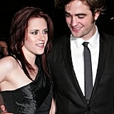 Robert Pattinson and Kristen Stewart were sleek in matching black at the 2008 premiere of Twilight in London.