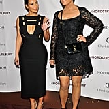 Kim Kardashian and Kris Jenner went to the launch of Charlotte Tilbury's makeup and skin care line in LA on Thursday.