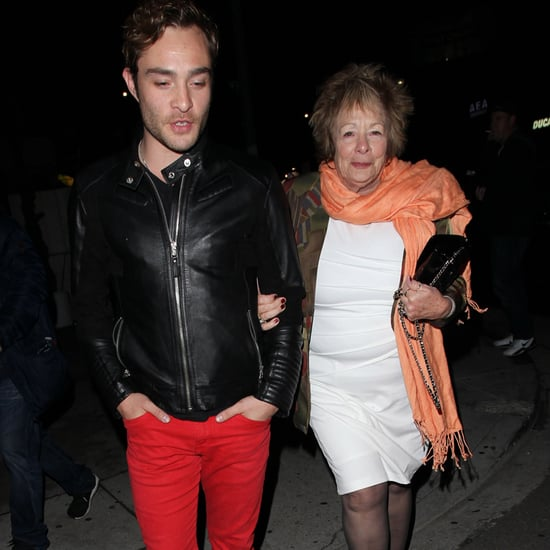 Ed Westwick and His Mom Out in LA March 2016