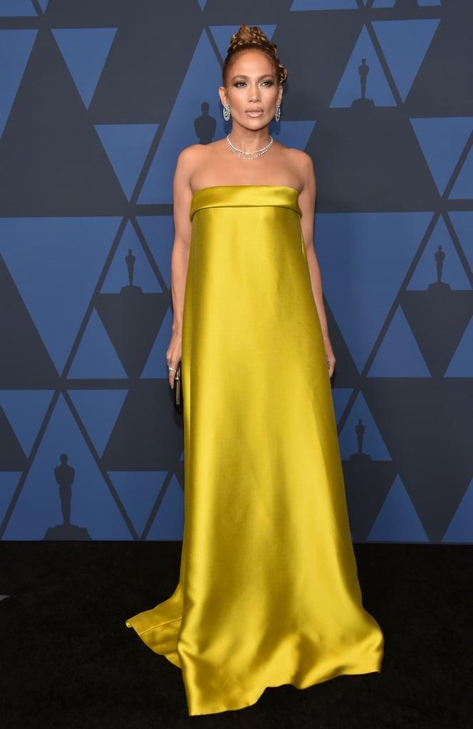 Jennifer Lopez Reem Acra Dress at the Governors Awards Gala