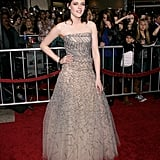 A showstopping Oscar de la Renta gown for the New Moon premiere in LA.