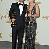 Ty Burell and Julie Bowen posed with their Emmys.