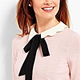 Talbots Scallop-Collar & Bow Sweater