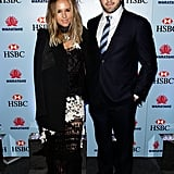 Pip Edwards and Adam Ashley-Cooper at the Waratahs Annual Awards Night in 2012