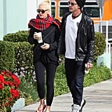 Gwen Stefani and Gavin Rossdale walked together during a coffee run in LA.