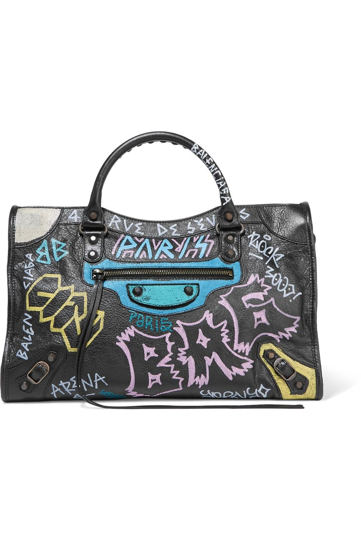 Kendall Jenner's Balenciaga Graffiti Bag | POPSUGAR Fashion