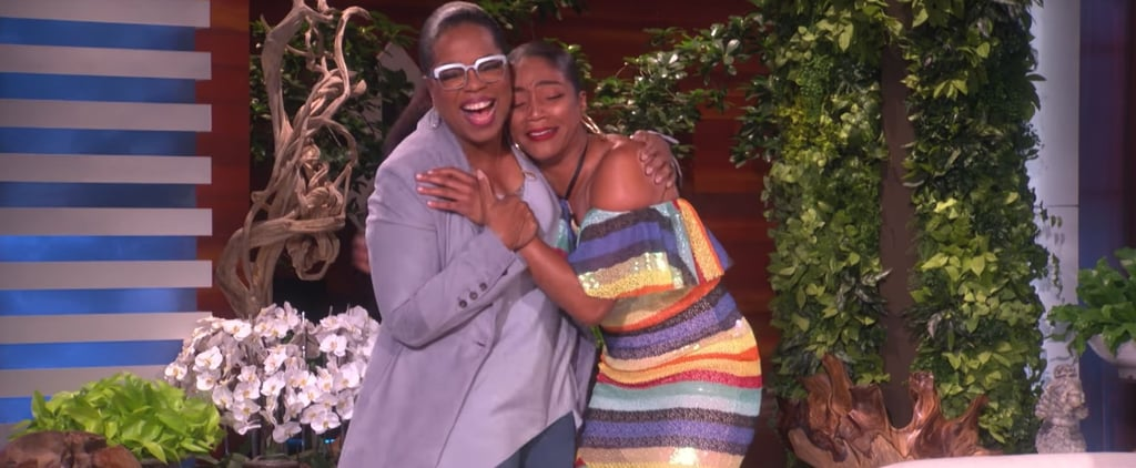 Tiffany Haddish and Oprah Winfrey on The Ellen Show 2018