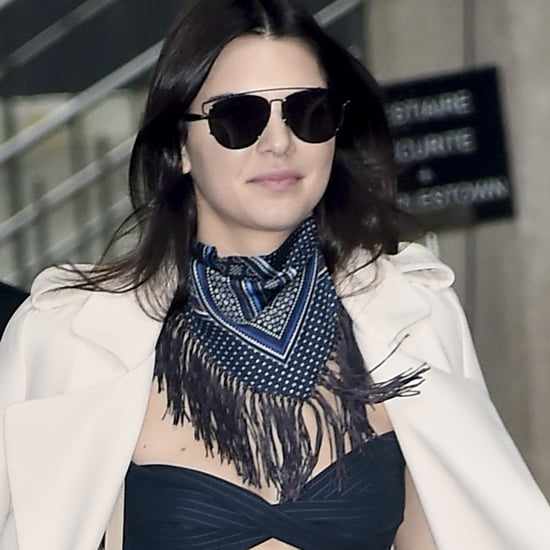 Kendall Jenner's Striped Jumpsuit at Paris Fashion Week