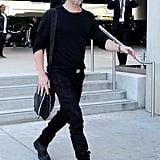 Brad Pitt caught a flight out of LAX on Saturday.