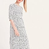 Nobody's Child White and Black Spot Rachel Babydoll Midi Dress