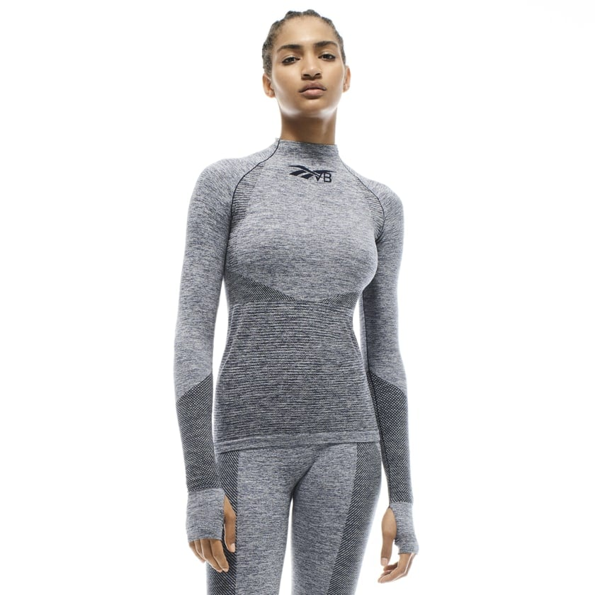 Reebok x VB Seamless Textured Long Sleeve Top — Blue