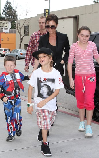 Victoria Beckham and the kids out for Cruz's 5th Birthday party