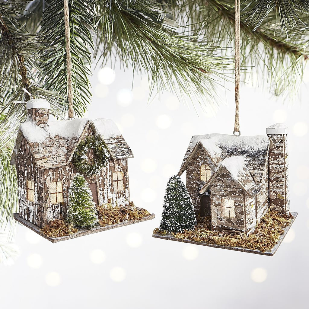 led light up cabin ornaments 18 for a set of two