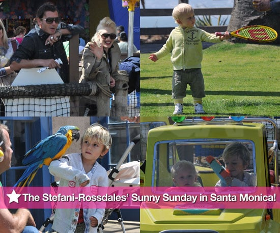 Pictures of Gwen Stefani and Gavin Rossdale With Kingston and Zuma in Santa Monica