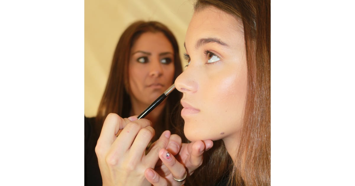 lead makeup artist val garland for sephora pro described the look herve leger hair and makeup fashion week fall 2013 popsugar beauty photo 1