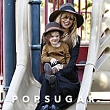 Rachel Zoe took Skyler to the park.