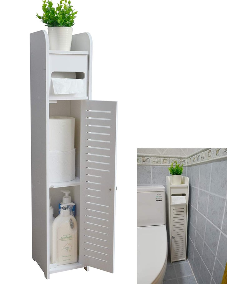Aojezor Small Bathroom Storage Corner Floor Cabinet