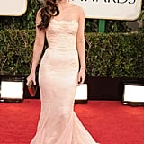 Megan Fox wore a delicate lace Dolce & Gabbana frock to the Golden Globes in 2013.
