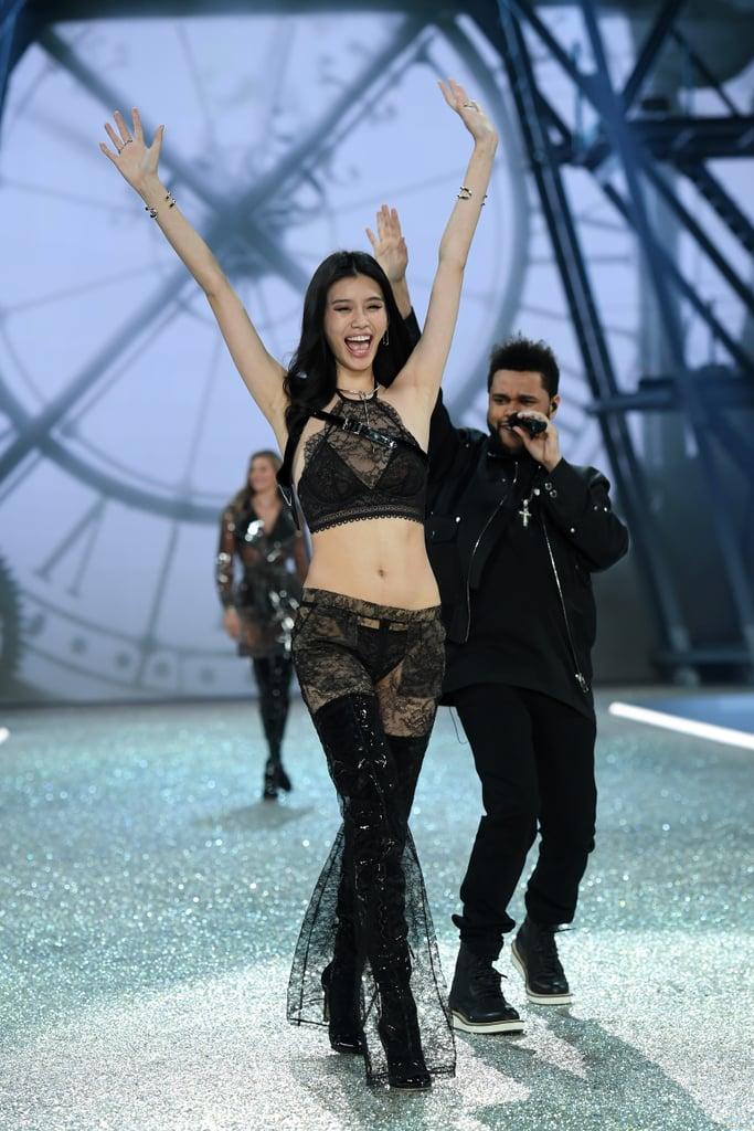 Pictured: Ming Xi and The Weeknd