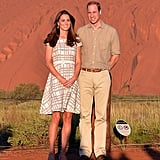Will and Kate's gorgeous moment in front of Ayers Rock.