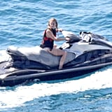 Julianne Hough jet-skiing in St. Barts.
