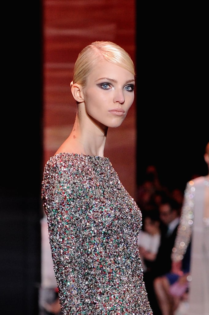 Elie Saab always sparkles, but particularly so in the case of this Haute Couture number.