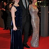 Rob led his leading ladies down the carpet.