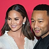 Chrissy Teigen and John Legend at Target's Toycracker