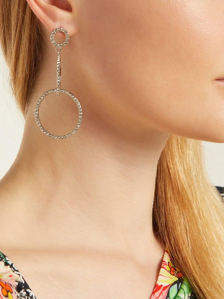 e7b7be9f39 Isabel Marant Crystal-Embellished Hoop Drop Earrings | Silver ...