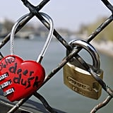 Locks of love in Paris.