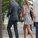 Jennifer Aniston had no problem rewearing her printed Prada dress at Lake Bell's wedding in New Orleans in June. If you, too, have found a dress you love, then don't be afraid to rewear it at multiple weddings.