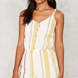 Factory Tulum Striped Romper ($58)