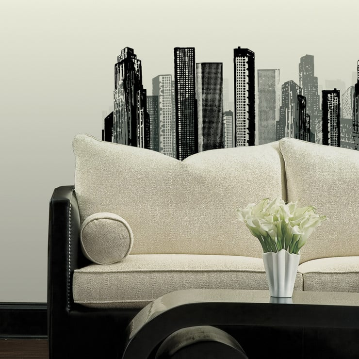 Cityscape Wall Decal ($43)