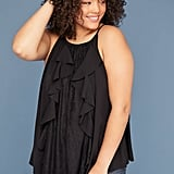 Lane Bryant Lace & Ruffle Front Halter Top