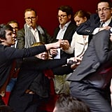There was a scuffle before the vote.