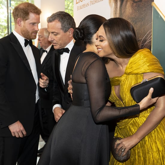 Beyoncé and Meghan Markle Meet at Lion King Premiere Video
