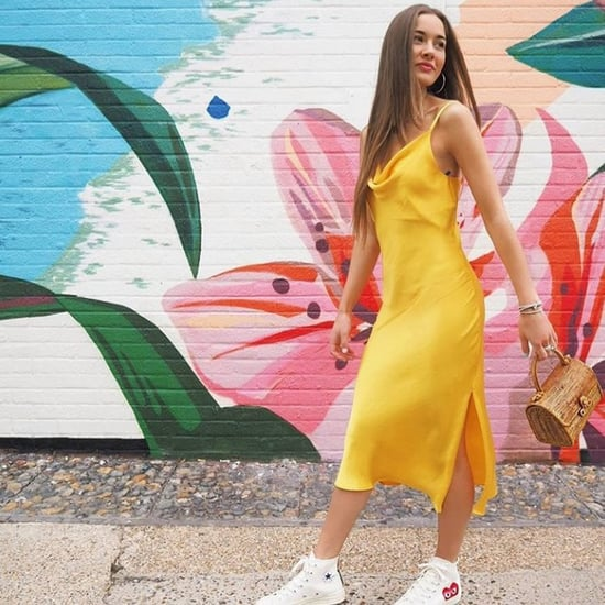 Topshop Yellow Cowl Neck Slip Dress
