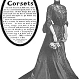 An ad for corsets from 1903 shows the Edwardian shape.