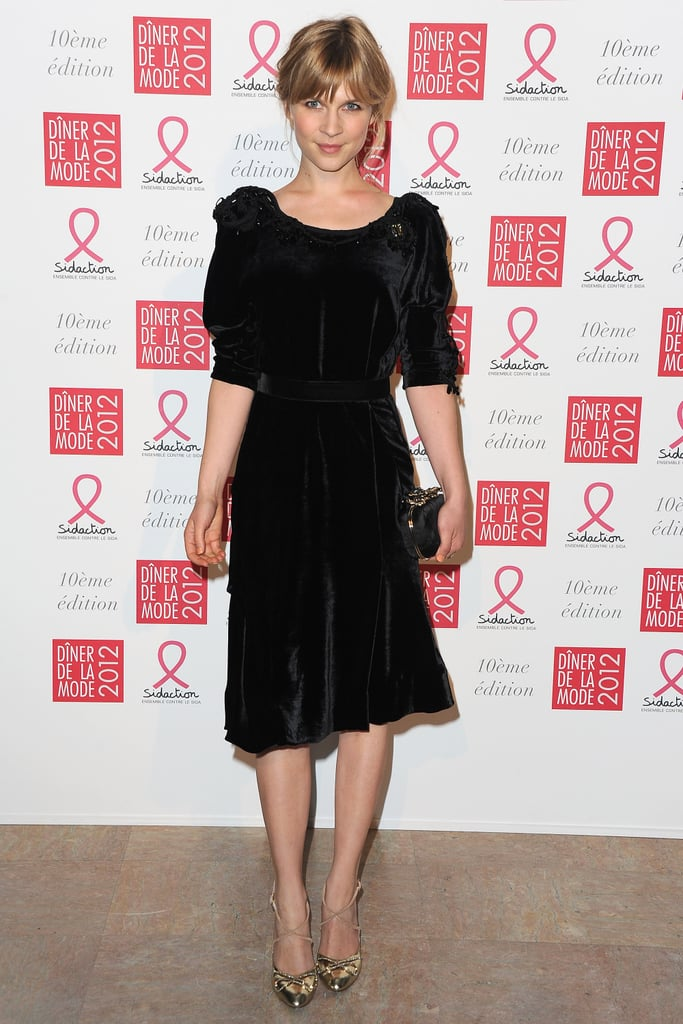 Clemence Poesy attended the 10th annual Sidaction gala in Paris in Nina Ricci.