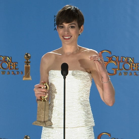 Anne Hathaway Engaged Celebrity Save The Dateanne: Anne Hathaway Golden Globes Press Room (Video)