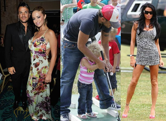 Photos of Jordan aka Katie Price at Polo and Peter Andre with Chantelle Houghton and Princess and Junior